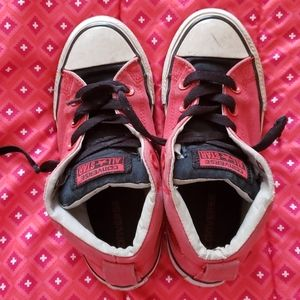 2/15 Boys red converse high top sneakers Size 1